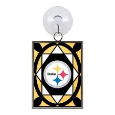 pittsburgh steelers stained glass ornament suncatcher