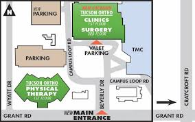 Physical Therapy Clinic Floor Plans Tmc Orthopaedic Center Tucson Orthopedic Institute Directions