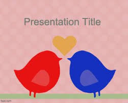 powerpoint templates free download heart free love birds powerpoint template