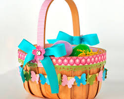 decorating easter baskets awesome easter basket craft idea with butterflies and bows