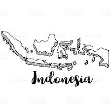 Indonesia World Map by Hand Drawn Of Indonesia Map Vector Illustration Stock Vector Art
