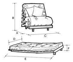 Sofa Bed Dimensions Express Mito Standard Single Seat Futon Sofa Bed