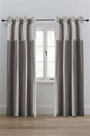 Steel Grey Curtains Cotton Blackout Eyelet Curtains 784469 40 75 Bedroom