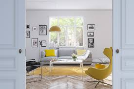 Yellow And Gray Wall Decor by 25 Gorgeous Yellow Accent Living Rooms
