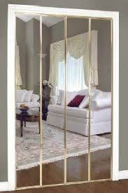 Mirrored Bifold Doors For Closets Mirrored Doors