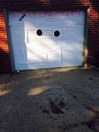 awesome garage door decorating ideas for halloween amazing diy