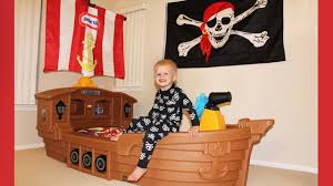 Pirate Ship Bedroom by Michael U0027s New Pirate Ship Bed Youtube