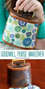 goodwill purse upcycle makeover oh my creative