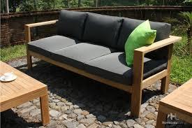Outdoor Sofa Cushion 4 Pc Ando Teak Sofa Set Hl Ando Tk 4ss Patio Productions