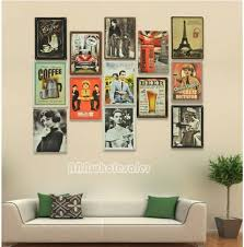 wall decor posters poster iron painting wall decor retro style 20