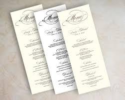 diy wedding menu cards 23 wedding menu templates free sle exle format
