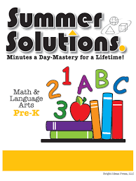 summer solutions pre k math and language arts summer