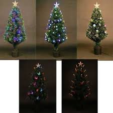 pre lit tree led fibre optic prelit light up home