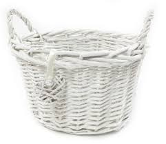 white grey shabby chic wicker kitchen fruit oval storage baskets