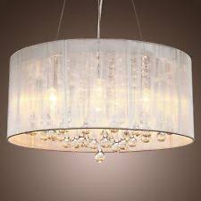 Chandeliers With Shades And Crystals by Crystal Drum Chandelier Ebay