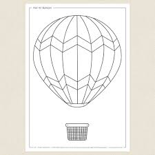 air balloon colouring sheet cleverpatch