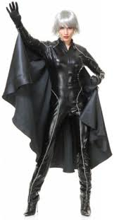 Witch Costume Halloween Superhero Lightning Weather Witch Costume Black Catsuit Cape
