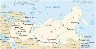 russia map with all cities russia map