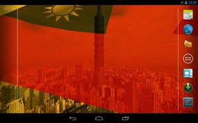 Flag Taiwan 3d Taiwan Flag Live Wallpaper Android Apps On Google Play