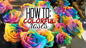 tie dye roses diy colorful roses