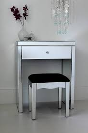 glass vanity table with mirror mini mirrored dressing table by out there interiors