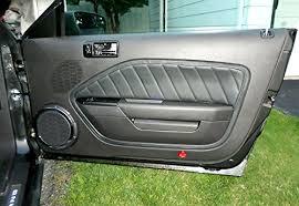 mustang door panel amazon com ford mustang 2005 09 door insert covers by