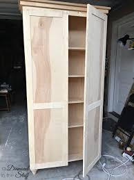 Wooden Storage Closet With Doors Diy Aqua Storage Cabinet Image With Astonishing Wood Storage
