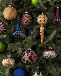 Glass Christmas Ornament Sets - set of 35 napa jewel glass ornaments balsam hill christmas