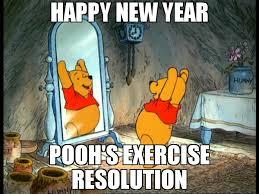 Pooh Meme - happy new year pooh s exercise resolution meme winnie 72806