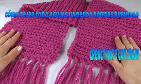 bufandas mis tejidos tejer en navidad manualidades navidenas bufanda aprende a tejer sin agujas muy fácil manualidades
