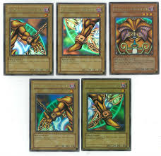 yu gi oh blue eyes white dragon 1st edition set all 5 exodia