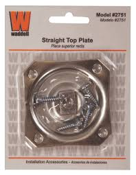 table leg mounting hardware amazon com waddell straight top hardware plate 2751a waddell