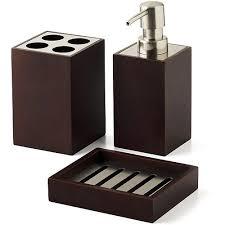 mabry 3 piece bath accessories set brown bath walmartcom red