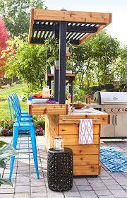 outdoor kitchen cabinet doors diy outdoor kitchen with concrete countertop