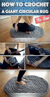 how to crochet a giant circular rug u2013 no sew cute diy projects