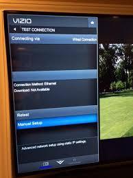 reset vizio tv network settings vizio smart tv connected to uverse gateway at t community