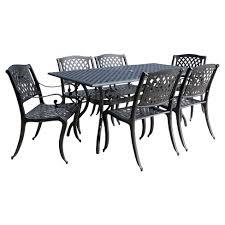 Aluminum Cast Patio Dining Sets Cayman 7pc Cast Aluminum Patio Dining Set Black Christopher