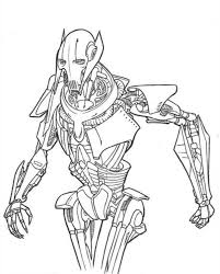 black white coloring pages star wars grievous google