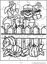 thanksgiving cornucopia coloring pages scarecrow crafting the word of god