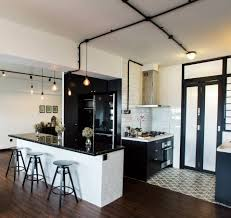 Wet Kitchen Design Black White Kitchen Singapore Hdb Flat By Jq Ong The