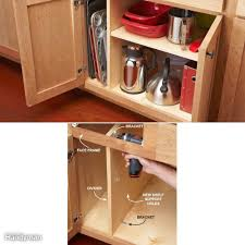 how to add a shelf to a cabinet add shelf to kitchen cabinet shelves