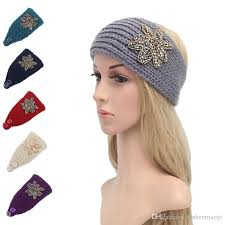 hair headbands 2017 women fashion hair jewelry wool crochet headbands knit hair