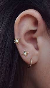 second earrings starry earrings shiny piercings and