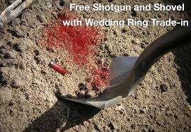 shotgun wedding ring jewelry store now offers women a free shotgun and shovel with