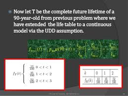 Uniform Lifetime Table by Acturial Maths