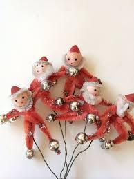 pipe cleaner santa ornaments package enhancers vintage https