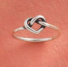 avery heart knot ring this avery customer stacked two script initial rings and a
