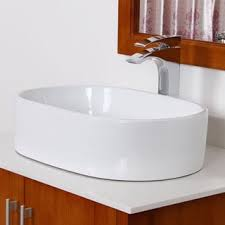 Oval Bathroom Sinks Elite White Ceramic Over The Counter Oval Bathroom Sink Free