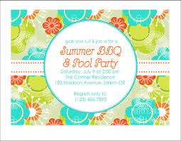 Create Invitation Cards Summer Party Invitations Kawaiitheo Com