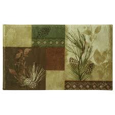 amazon com bacova guild pine cone silhouettes bath rug designed